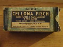 """Vintage, Bande Platrée à Plâtre Adhérent 'BLEU"""" Cellona Fisch"""", Laboratoires Fisch à Mulhouse Et Vibraye, Boîte + Bande - Perfume & Beauty"""