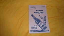 GRAND BUVARD ANCIEN DATE ?. / RHUM CHAUVET LE HAVRE. - Buvards, Protège-cahiers Illustrés