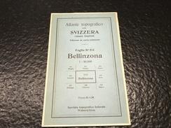Bellinzona - Atlante Topografico - TOPOGRAPHISCHE ATLAS DER SCHWEIZ - CARTE TOPOGRAPHIQUE DE LA SUISSE- Foglio 515 - Topographische Karten