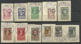 LITAUEN Lithuania 1920 Michel 76 - 86 O VIRBALIS Nice Cancels! - Lithuania