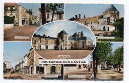 COULONGES SUR L'AUTIZE --1962-- Multivues  (rues,place,ferme Hotel De Ville) - Coulonges-sur-l'Autize
