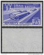 Italia Italy 1953 Mille Miglia Sa N.707 Nuovo Integro MNH ** - 1946-60: Nuovi