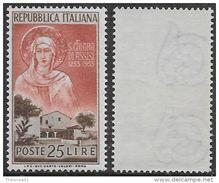 Italia Italy 1953 Santa Chiara Sa N.719 Nuovo Integro MNH ** - 1946-60: Nuovi