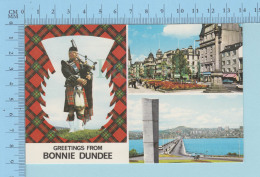 Ecosse - Greetings From Bonnie Dundee, Multi-views - Used In 1976, Postmark Happy Christmas The Post Office - Souvenir De...
