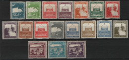 Palestina 1927 Y.T. 63/75,77/78 MNH/** VF - Palestina