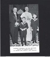 1956 Pagela AUDIENCIA Papa Pio XII A D.DUARTE BRAGANÇA E Principes. Card W/Pope Pius XII + Heir Throne PORTUGAL - Familles Royales