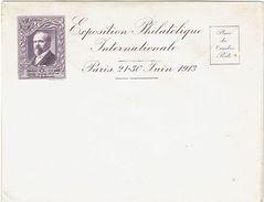 PRESIDENT POINCARE SUR ENV. EXPOSITION PHIL. INT.LE PARIS 1913 COULEUR VIOLET - Philatelic Exhibitions