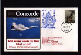 Germany 1981 Concorde First Flight Graz - Linz - Concorde