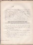 BRUXELLES RIXENSART Félix De MERODE 66 Ans 1857 Congrès National 1830 Croix De Fer, Ministre D'Etat, Princesse De MONACO - Todesanzeige