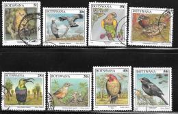 Botswana, Scott # 620-27 Used Birds, 1997 - Botswana (1966-...)