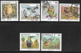 Botswana, Scott # 620-25 Used Birds, 1997 - Botswana (1966-...)