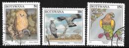 Botswana, Scott # 620-22 Used Birds, 1997 - Botswana (1966-...)