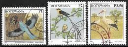 Botswana, Scott # 631, 634-5 Used Birds, 1997 - Botswana (1966-...)
