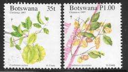 Botswana, Scott # 651-2 Used Flowers, Christmas, 1997 - Botswana (1966-...)