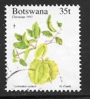 Botswana, Scott # 651 Used Flowers, Christmas, 1997 - Botswana (1966-...)