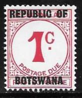 Botswana, Scott # J1 Mint Hinged Postage Due, 1967 - Botswana (1966-...)