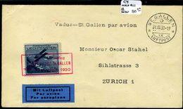 Liechtenstein C4 (Michel #111)  Used  Flight Cover August 31, 1930 - Air Post