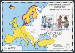 1989 Norway NODIA Fredrikstad Europa Sheet - Blocks & Sheetlets