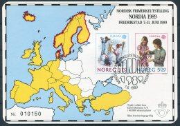 1989 Norway NORDIA Fredrikstad Europa Sheet - Blocks & Sheetlets