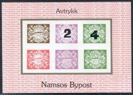 1989 Norway Namsos Bypost Local Post Sheet - Blocks & Sheetlets