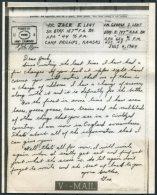 1944 Iceland USA Military APO V-Mail - Camp Phillips, Kansas - 1918-1944 Administration Autonome