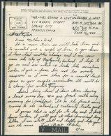 1944 Iceland USA Military APO 860 V-Mail - Spring City - 1918-1944 Administration Autonome