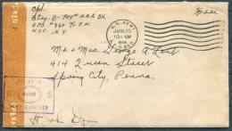 1944 Iceland USA Military APO 860 Cover + Letter - Spring City, Pennsylvania - 1918-1944 Administration Autonome