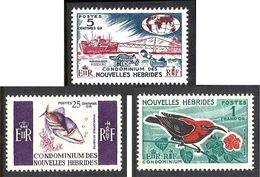 NOUVELLES HEBRIDES 1966 N° 239 à 241 * * Neufs Lot - 2211 - Ongebruikt