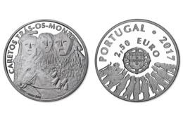 "PORTUGAL 2,50Eeuro;   2.017  2017  ""CARETOS TRÁS-OS-MONTES""  CU-NI  SC/UNC   T-DL-12.165 - Portugal"