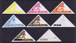 Cook Islands 1969 Sports Progressive Proof Set Showing Progressive Colours - Cookinseln