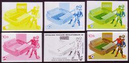 Guinee 1982 World Cup Soccer Progressive Proof Set Showing Progressive Colours - Fußball-Weltmeisterschaft