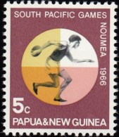 PAPUA NEW GUINEA - Scott #225 South Pacific Games, Discus / Mint NH Stamp - Gymnastics