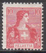 SWITZERLAND     SCOTT NO. 129     MINT HINGED        YEAR  1907 - Nuovi