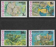 Bahamas SG493-496 1977 Marine Life Set 4v Complete Unmounted Mint [35/29926/2D] - Bahama's (1973-...)