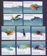 UAE United Arab Emirates 2011 MNH - Wildlife Of Bu Tinah Island Birds Fishes Turtles,, Complete Set Of 10 Stamps - United Arab Emirates