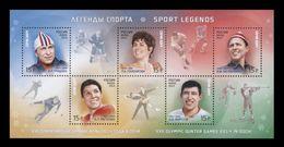 Russia 2013 Mih. 1983/87 (Bl.194) Olympic Winter Games In Sochi. Sports Legends (I) MNH ** - 1992-.... Fédération