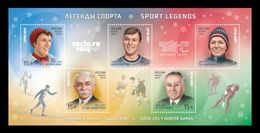 Russia 2013 Mih. 2005/09 (Bl.197) Olympic Winter Games In Sochi. Sports Legends (II) MNH ** - Unused Stamps