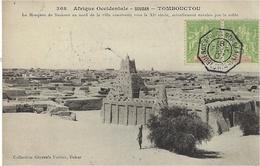 1907- C P A De TOMBOUCTOU Affr. Paire 5 C Sénégal Oblit. Cad Octog. BUENOS AYRES A BORDEAUX L.J. N°4 Pour Paris - Postmark Collection (Covers)