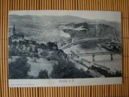 Aussig A.E., Totalansicht Mit Brücke, Gelaufen 1907 - Sudeten