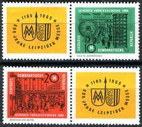 A03-09-1) DDR - Michel Zf/1012 / 2013/Zf = WZd 118 + 120 - ** Postfrisch (A) - Leipziger Frühjahrsmesse 1964 - 25,00 Mi€ - DDR