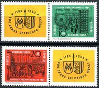 A03-09-1) DDR - Michel Zf/1012 / 2013/Zf = WZd 118 + 120 - ** Postfrisch (B) - Leipziger Frühjahrsmesse 1964 - 25,00 Mi€ - Nuovi