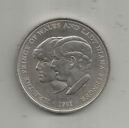 Médaille, Royaume Uni , The Prince Of WALES And Lady DIANA SPENCER , 1981, Frais Fr : 1.95 Euro - Royaux/De Noblesse