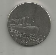 Médaille, Bateau , Paquebot , TITANIC , 1912 , White Star, Frais Fr : 1.95 Euro - Other