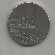 Médaille, Bateau , Paquebot , TITANIC , 1912 , White Star, Frais Fr : 1.95 Euro - France