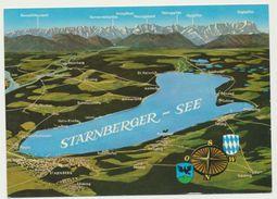 AK  Orientierungskarte Starnberger See - Cartes Géographiques