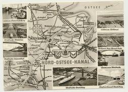 AK  Orientierungskarte Nord Ostsee Kanal Binnen Schifffahrt - Cartes Géographiques