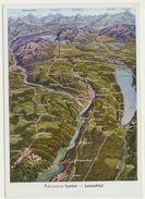 AK  Orientierungskarte Panorama Isartal Loisachtal - Cartes Géographiques