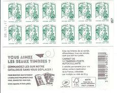 CARNET 12TP CIAPPA - TVP LV -  VOUS AIMEZ LES BEAUX TIMBRES - DATE DU 08 11 17 - NEUF - NON PLIE - Usage Courant