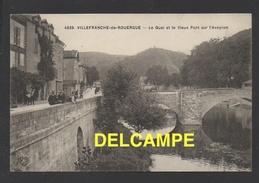 DF / 12 AVEYRON / VILLEFRANCHE DE ROUERGUE / LE QUAI ET LE VIEUX PONT SUR L' AVEYRON / CIRCULÉE EN 1911 - Villefranche De Rouergue