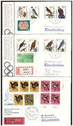 3 Lettres Avec Timbres Oiseaux - Vögel